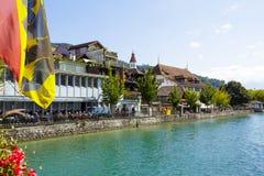 Stad av Thun, Schweiz Fotografering för Bildbyråer