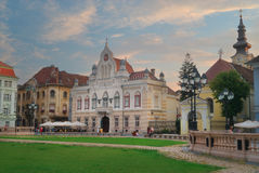 Stad av Timisoara i Rumänien Arkivbilder