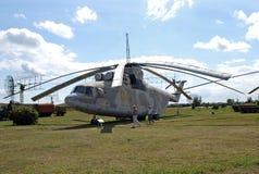 Stad av Togliatti Ryssland Tekniskt museum av K G sakharov Helikopter som kan användas till mycket för transport Mi-26 för utstäl Royaltyfria Bilder