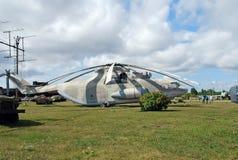 Stad av Togliatti Ryssland Tekniskt museum av K G sakharov Helikopter som kan användas till mycket för transport Mi-26 för utstäl Arkivfoto