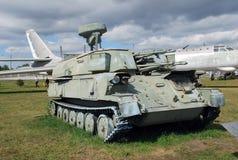 Stad av Togliatti Tekniskt museum av K G sakharov Utställning av den luftvärns- Shilka för museum självgående pjäsvärnet 3SU-23- Royaltyfri Bild