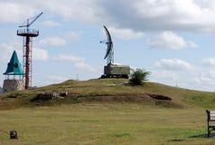 Stad av Togliatti Tekniskt museum av K G sakharov Utställning av höjdmätaren för radio PRV-9 för museum den mobila Royaltyfria Foton