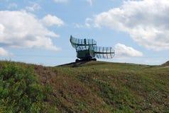 Stad av Togliatti Tekniskt museum av K G sakharov Utställning av höjdmätaren för radio PRV-9 för museum den mobila Arkivfoto