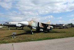 Stad av Togliatti Tekniskt museum under den öppna himlen K G Sakharova Utställning av framdelkämpen för museum MIG-23 Royaltyfri Fotografi
