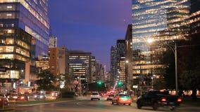 Stad av Toronto på natten stock video