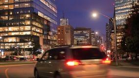 Stad av Toronto på natten arkivfilmer