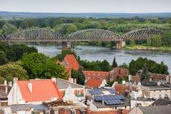 Stad av Torun i Polen Royaltyfria Foton