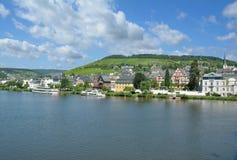 Stad av Traben-Trarbach, Mosel dal, Tyskland Royaltyfria Bilder