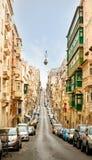 Stad av Valletta på dagen fotografering för bildbyråer
