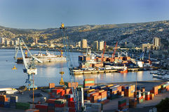 Stad av Valparaiso, Chile Arkivbilder