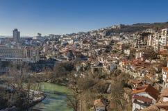 Stad av Veliko Tarnovo, Bulgarien Arkivbild
