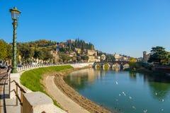 Stad av Verona, Italien royaltyfri bild
