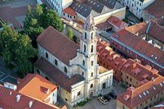 Stad av Vilnius Litauen, flyg- sikt Royaltyfri Bild