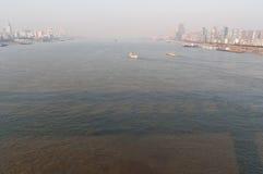 Stad av Wuhan, Kina fotografering för bildbyråer