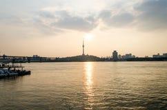 Stad av Wuhan, Kina arkivbilder