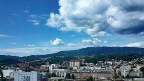 Stad av Zagreb, Kroatien Arkivfoton