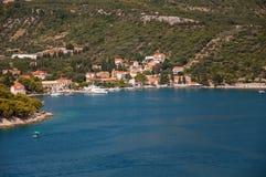 Stad av Zaton i Kroatien Royaltyfria Bilder