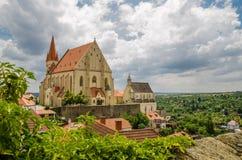 Stad av Znojmo, Tjeckien royaltyfri foto