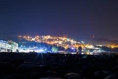 Stad bij nacht stock foto