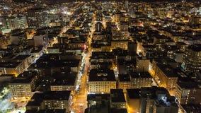Stad bij nacht stock video