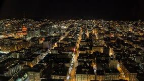 Stad bij nacht stock footage