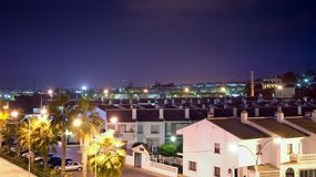 Stad bij nacht Stock Fotografie