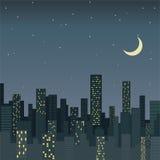 Stad bij nacht Royalty-vrije Stock Afbeelding