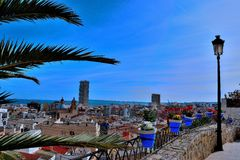 Stad blauw Alicante Stock Fotografie