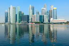 stad blomstra singapore arkivfoto