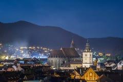 Stad Brasov Rumänien arkivfoton