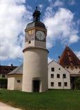 Stad Burghausen i den Bayern Tyskland Arkivfoton