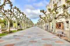 Stad Burgos invallning Arkivfoto