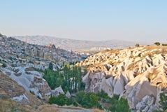 Stad in Cappadocia stock afbeeldingen