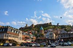 Stad-centrum van Tbilisi Stock Fotografie