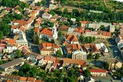 Stad Cesky Brod - historisk stad arkivfoton