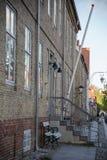 Stad Christiansfeld f?r v?rldsarv fotografering för bildbyråer