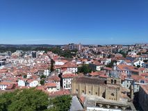 Stad Coimbra royaltyfri fotografi
