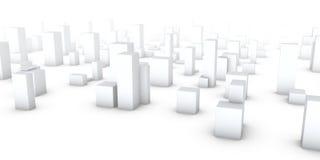 Stad in de mist Vector Illustratie