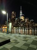 Stad in de nacht Stock Afbeelding