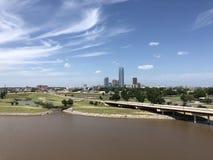 Stad de van de binnenstad van Oklahoma royalty-vrije stock afbeelding