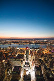 Stad de van de binnenstad van New York bij Nacht Royalty-vrije Stock Afbeelding