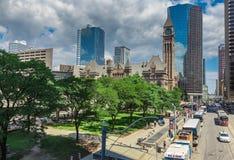 Stad de van de binnenstad van Toronto Stock Afbeeldingen