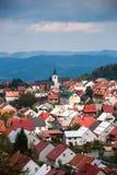 Stad Delnice, Kroatien Arkivfoton