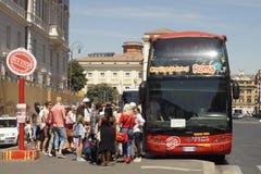 Stad die ROME bezienswaardigheden bezoeken royalty-vrije stock foto