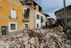 Stad door wordt vernietigd die Royalty-vrije Stock Afbeelding
