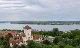 Stad Drobeta-Turnu Severin, Rumänien Fotografering för Bildbyråer