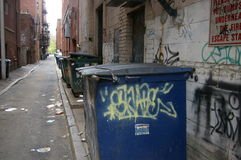 Stad dumpster Royalty-vrije Stock Foto's