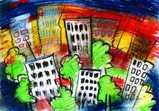 Stad en koepel en tekening en architectuur, Stock Foto's