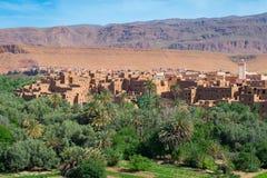 Stad en oase van Tinerhir, Marokko royalty-vrije stock afbeelding