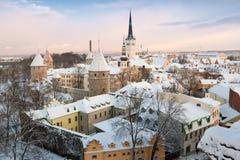 stad estonia gammala tallinn Royaltyfri Fotografi